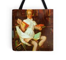 Gil Elvgren Pin Up Librarian Tote Bag