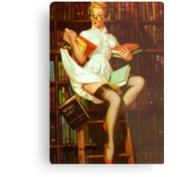 Gil Elvgren Pin Up Librarian Metal Print