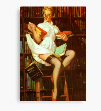 Gil Elvgren Pin Up Librarian Canvas Print