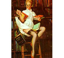 Gil Elvgren Pin Up Librarian Photographic Print