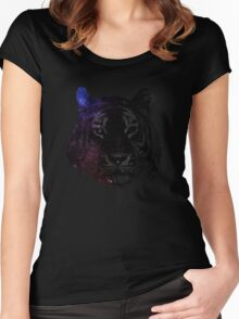 Space tiger2 Women's Fitted Scoop T-Shirt