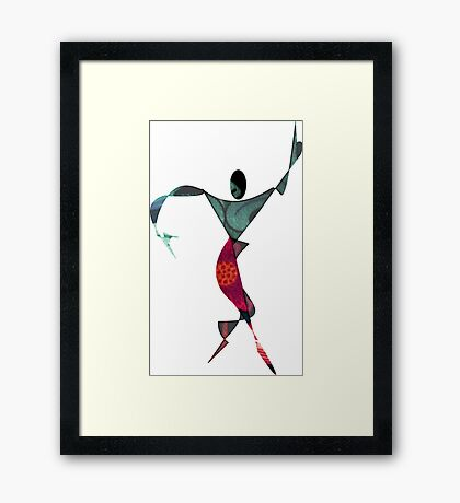 Silouhette Woman 11 Framed Print