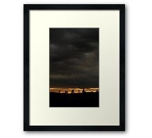 0804 - HDR Panorama - Sky and Silhouette Framed Print
