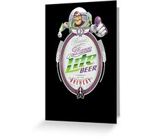 Buzz Lite Beer Greeting Card