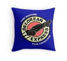 Delorean Express Throw Pillow