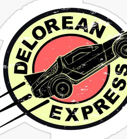 Delorean Express Sticker