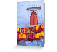 In a Jodhpur Market Greeting Card