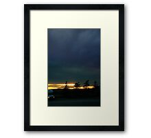 0810 - HDR Panorama - Sky and Silhouette Framed Print