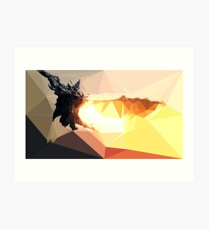 Low Poly Characters- Alduin Art Print