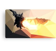 Low Poly Characters- Alduin Metal Print