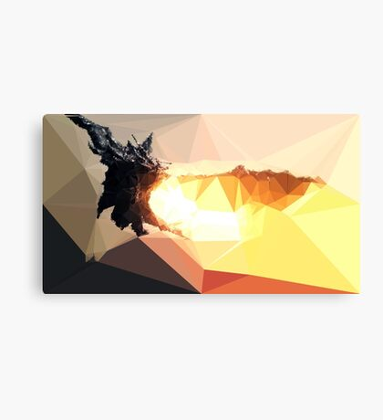 Low Poly Characters- Alduin Canvas Print