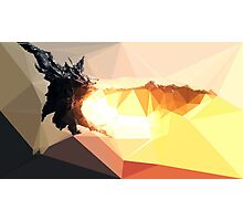 Low Poly Characters- Alduin Photographic Print