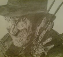 freddy kreuger from a nightmare on elm street movie by mazmedia