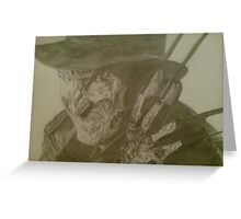 freddy kreuger from a nightmare on elm street movie Greeting Card