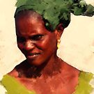African Woman by bev langby