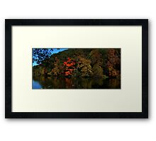 0826 - HDR Panorama - Geese and Stream Framed Print