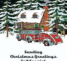 Daughter In Law Sending Christmas Greetings Card by Gear4Gearheads