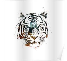 Tiger Cool Chill Space Modern Street Art Poster