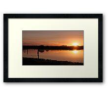 Zoutpan Sunrise Framed Print