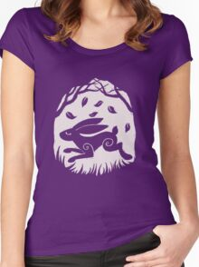 Leaping Hare in Autumn Women's Fitted Scoop T-Shirt