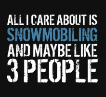 Must-Have 'All I Care About Is Snowmobiling And Maybe Like 3 People' Tshirt, Accessories and Gifts by Albany Retro