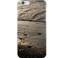 Golden Foam and Pebbles - Early Light at the Breakwater iPhone Case/Skin