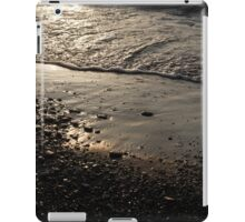 Golden Foam and Pebbles - Early Light at the Breakwater iPad Case/Skin