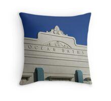 Ocean Baths Throw Pillow