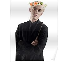 draco with flower crown Poster