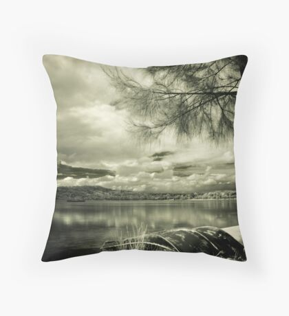 Just A Boat Throw Pillow