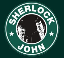 Sherlock and John Starbucks by ezranite