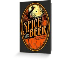 Spice Beer Label Greeting Card