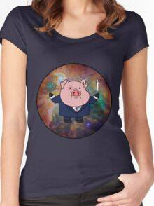 """""""Smart"""" Waddles Women's Fitted Scoop T-Shirt"""
