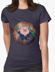 """""""Smart"""" Waddles Womens Fitted T-Shirt"""