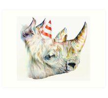 Rhino Party Art Print