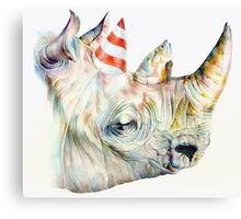 Rhino Party Canvas Print