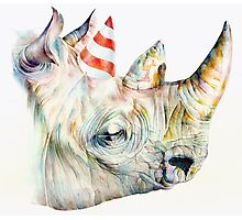 Rhino Party Photographic Print
