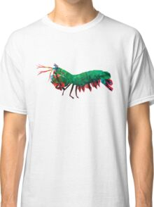 Geometric Abstract Peacock Mantis Shrimp Classic T-Shirt