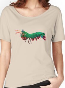Geometric Abstract Peacock Mantis Shrimp Women's Relaxed Fit T-Shirt