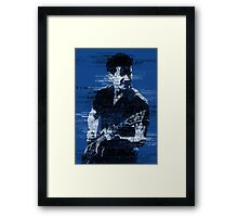 Alex Turner Typography (Blue) Framed Print