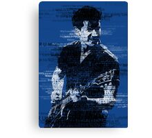 Alex Turner Typography (Blue) Canvas Print