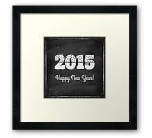 2015 on chalk board Framed Print