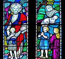 stained glass window by Mark Chadwick