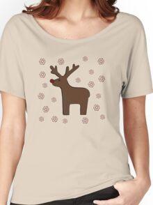Christmas deer! grey Women's Relaxed Fit T-Shirt