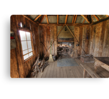 Inside of  a Hut Canvas Print