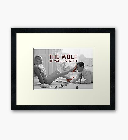 The wolf of wall street - short skirts 1 Framed Print