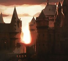 Hogwarts Sunset by Kaleigh Dominguez