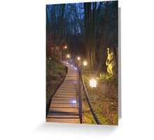 Millbrook, North Devon, UK - a magical walk in the woods Greeting Card