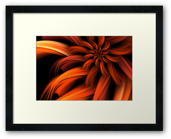 The Red Dahlia by John Edwards