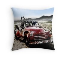 old red tow truck, route 66, cool springs, arizona Throw Pillow